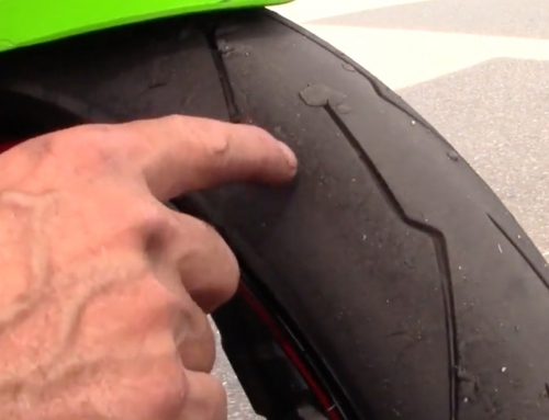 Contact Patch: Ninja 300 stresses the front tire